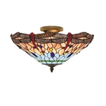 Searchlight 1289-16 Dragonfly 3 Light Tiffany Ceiling fitting