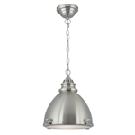 Searchlight 1294SS Satin Nickel Dome Pendant