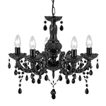 Searchlight 1455-5BK Marie Therese 5 light Chandelier