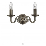 Searchlight 1502-2AB Richmond 2 light Antique Brass Wall Light