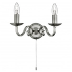 Searchlight 1502-2SS Richmond 2 light Satin Silver Wall Light