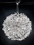Ribbon Polished Chrome White Glass Halogen Pendant M404