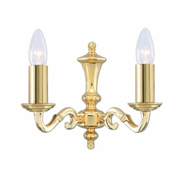 Searchlight 2172-2NG Seville Polished Brass Wall Light.