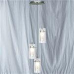 Searchlight 2300-3 Duo 3 light Pendant in Chrome finish.