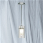 Searchlight 2300 Duo Satin Single Adjustable Pendant Fitting