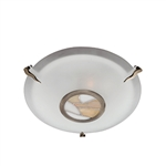 Searchlight 36095AM Tiffany Antique Brass Flush Fitting