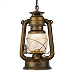 Searchlight 3841-1BG Lanterns Black Gold Ceiling Pendant.