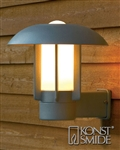 Konstsmide 401-312 Heimdal Exterior Wall Light in Aluminium Finish