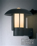Konstsmide 401-752 Heimdal Exterior Wall Light in Black finish
