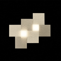 Grossmann 52-770-075 Creo LED 2 Light Wall Light in Brushed Champagne finish