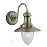Searchlight 5331-1AB Fisherman Wall Light in Antique Brass Finish.