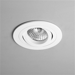 Astro Lighting 1240028 Taro Single White Recessed Downlighter