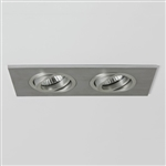 Astro 5709 Taro Twin Fire Rated Recessed Downlight in Brushed Aluminium finish