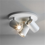 Astro 6143 Ascoli Triple Spotlight Plate in Textured White Finish.