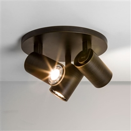 Astro 6146 Ascoli Triple Spotlight Plate in Bronze Finish.