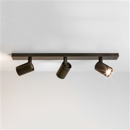 Astro 6147 Ascoli Triple Spotlight Bar in Bronze Finish.