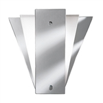 Searchlight 6201 Mirror and Satin Glass Wall Light