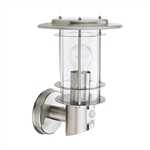 Searchlight Lighting 6211 Stainless Steel Exterior Wall light with Motion Sensor