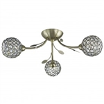 Searchlight 6573-3AB Bellis II 3 Light Fitting in Antique Brass finish
