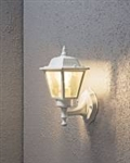 Konstsmide 7093-250 Matt White 1 Light Outdoor Wall Lamp.