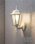 Konstsmide 7094-250 White Pallas 1 Light Outdoor Wall Lamp..