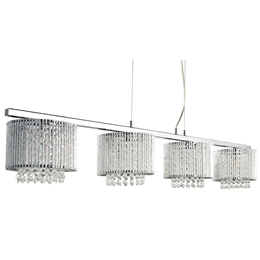 Searchlight 7094-4CC Elise 4 Light Chrome and Crystal Bar Pendant