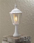 Konstsmide Lighting 7214-250 Firenze Matt White Post Lamp.