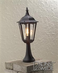 Konstsmide Lighting 7214-750 Firenze Matt Black Post Lamp.