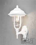 Konstsmide 7235-250 Parma Matt white outdoor Lantern with motion sensor
