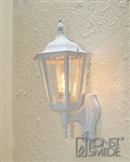 Konstsmide 7236-250 Firenze Matt white Outdoor Lantern with Motion Sensor