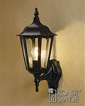 Konstsmide 7236-750 Firenze Matt Black Outdoor Lantern with Motion Sensor