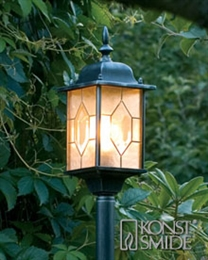 Konstsmide 7245-759 Milano Post Lamp in Black Finish.