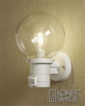 Konstsmide 7321-250 Nemi Matt white Outdoor Lamp with Motion Sensor