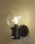 Konstsmide 7321-750 Nemi Matt Black Outdoor Lamp with Motion Sensor
