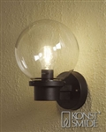 Konstsmide 7322-750 Nemi Matt Black Outdoor Lamp with Sensor