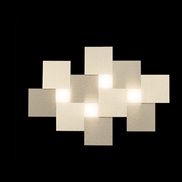 Grossmann 74-770-075 Creo LED 4 Light Fitting in Brushed Champagne finish