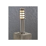 Konstsmide 7561-000 1 light stainless steel post light