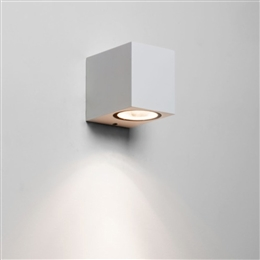 Astro 1310005 Chios 80 Exterior Wall Light in White finish.