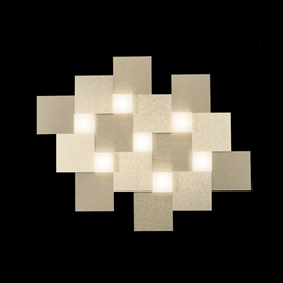 Grossmann 77-770-075 Creo LED 7 Light Ceiling Fitting in Brushed Champagne finish