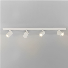 Astro 1286007 Ascoli Four Spotlight Bar in Textured White Finish.