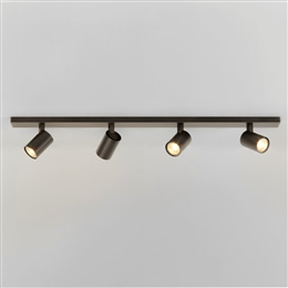 Astro 1286008 Ascoli Four Spotlight Bar in Bronze Finish.