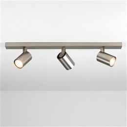 Astro 7951 Ascoli Triple Spotlight Bar in Matt Nickel Finish.