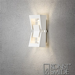 Konstsmide 7971-250 Potenza LED Exterior Wall Light in Matt White finish