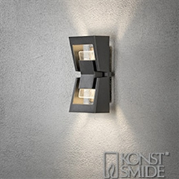 Konstsmide 7971-370 Potenza LED Exterior Wall Light in Anthracite finish