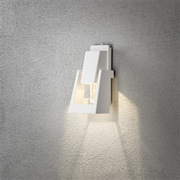 Konstsmide 7982-250 Potenza LED Exterior Wall Light in Matt White finish