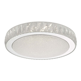 Dar Lighting AKE5008 Akelia Large LED Flush Ceiling Light