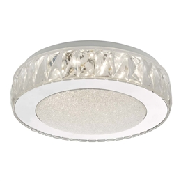 Dar Lighting AKE5208 Akelia Small LED Flush Ceiling Light