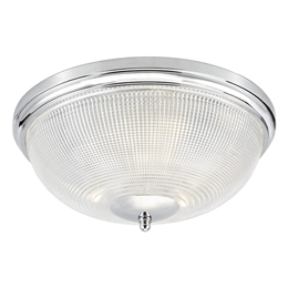Dar ARB5250 Arbor 3 Light flush Fitting with Prismatic Glass