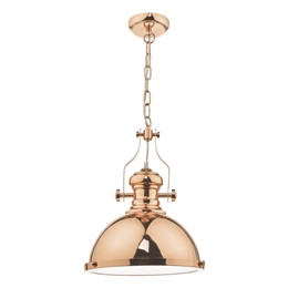 Dar ARO0164 Arona Pendant in Polished Copper finish