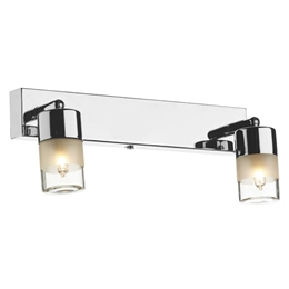Dar Lighting ART7750 Artemis 2 Light Bathroom Wall Light